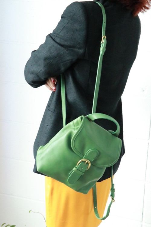 Coach light green backpack