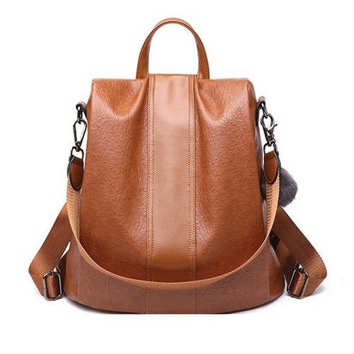 Leather Backpack Large Capacity Bag Travel Bag レザー バックパック リュック (HF99-0819443)