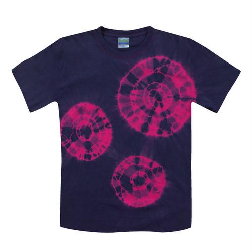 カジュアル藍染Tシャツ|奄美の花火 ホットピンク/ai008