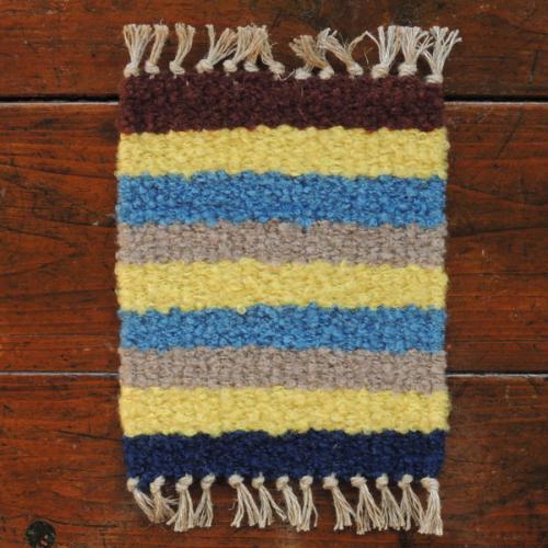 ウールの手織りコースター 【01】