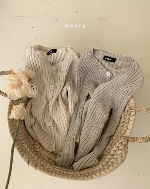 【予約販売】rib-knit cardigan〈Aosta〉