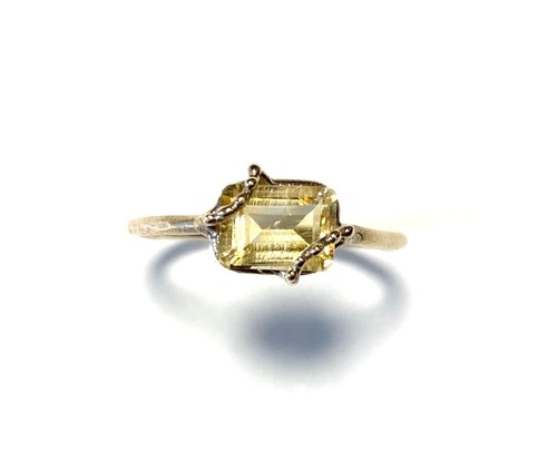 R10-0025-CT 【K10 lace rec citrine ring】