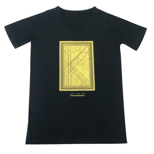 【ART THE KO】プレオーガニックコットン使用ベーシックVネックTシャツ《ユニセックス》