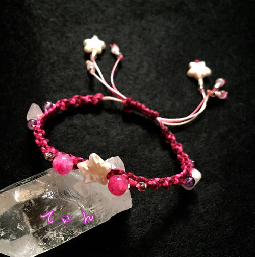 カシオペア。 パール✖︎紅水晶  Cassiopeia. Pearl ✖︎ red crystal