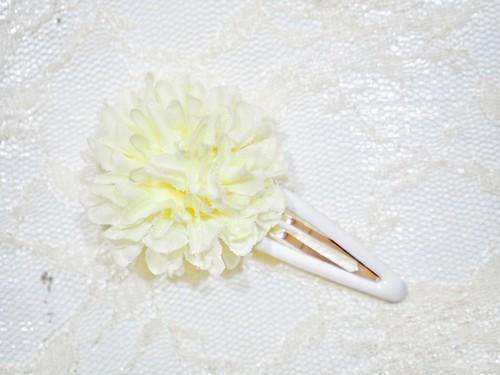 mum snap hair clip〜white〜
