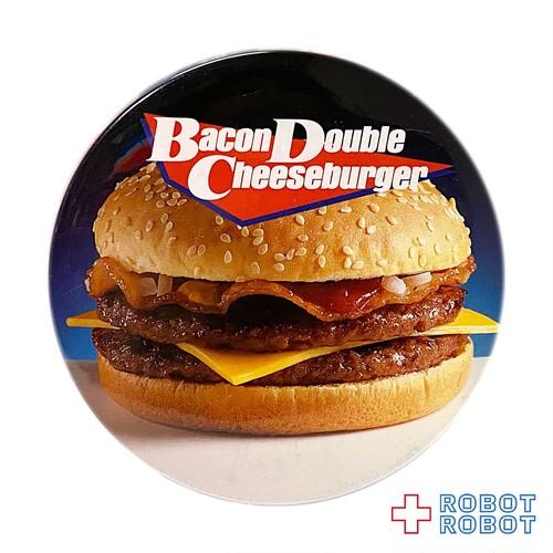 マクドナルド 缶バッジ ベーコンダブルチーズバーガー 20210402入荷