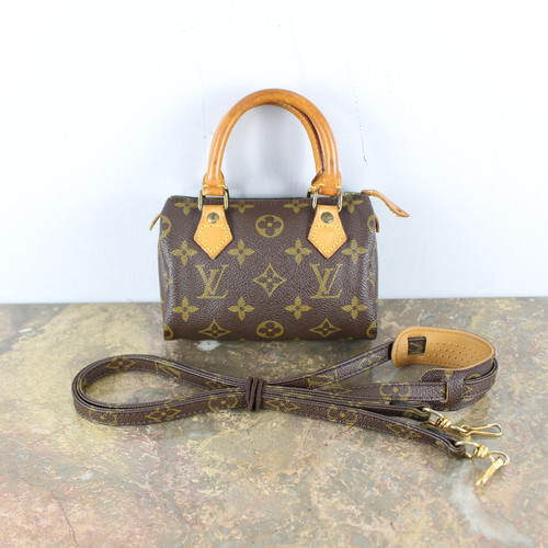 .LOUIS VUITTON MONOGRAM PATTERNED M41534 TH1901 MINI SPEEDY 2WAY SHOULDER BAG MADE IN FRANCE/ルイヴィトンミニスピーディモノグラムショルダーバッグ 2000000046037