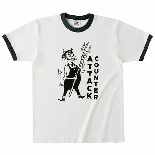 COUNTER ATTACK リンガーTシャツ グリーン