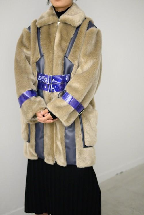 koll / fake fur coat