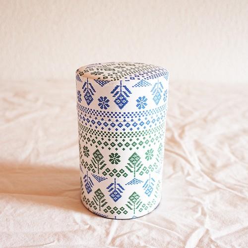 【星燈社】 茶筒 「花こぎん」 (150g茶葉用) 茶缶