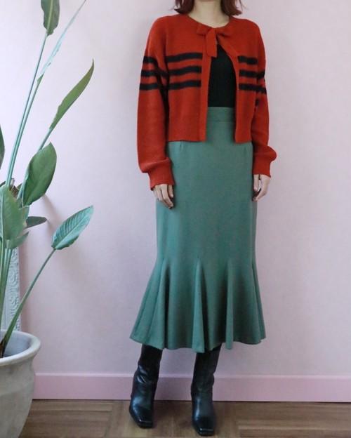 made in France mermaid wool skirt