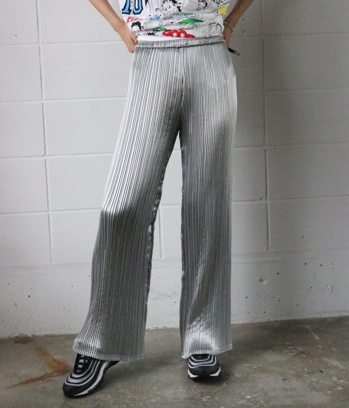 Silver Pleated pants