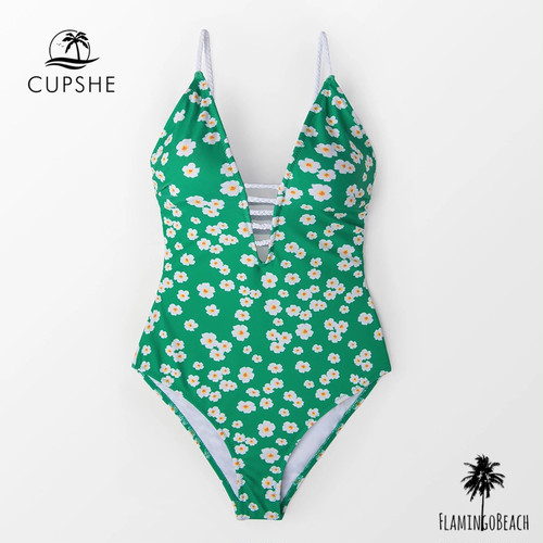 【FlamingoBeach】 green flower monokini モノキニ 43811