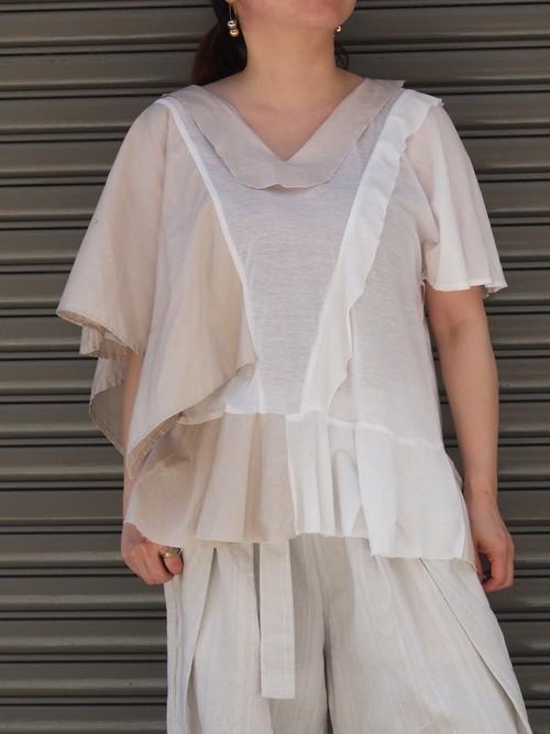 cotton ramie asymmetry tops