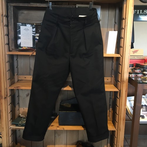 "H.UNIT ""Serge Tuck Wide Trousers"""