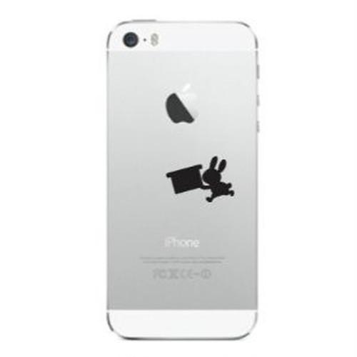 iPhone Deco りんごマークの周りに貼るステッカー for iPhone5/5S/5C「うさぎ」