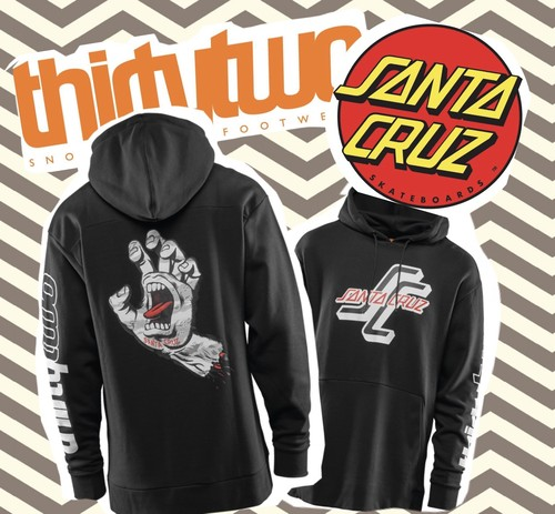 【THIRTY TWO】thirty two×SANTA CRUZ コラボモデル SANTA CRUZ HOODIE(BLACK)