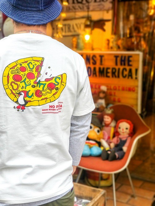CHUMS チャムス PIZZA T-SHIRT