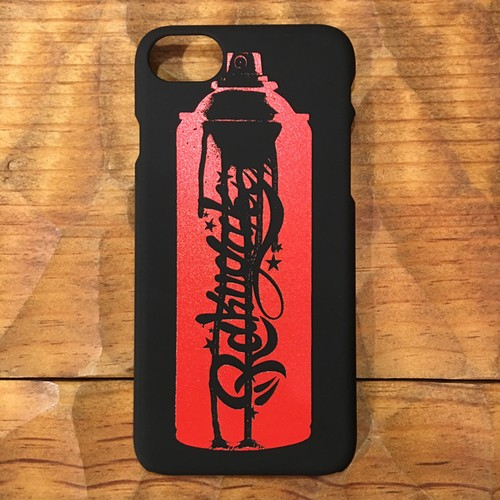RAKUGAKI SPRAY CAN Logo Hard iPhone Case Black x Red For iPhone 7