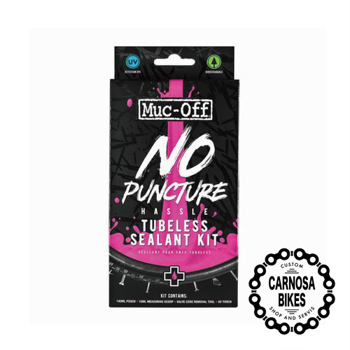 【Muc-off】NO PUNCTURE HASSLE TUBELESS SEALANT KIT [ノーパンクチャー ハッスルチューブレス シーラントキット] 140ml POUCH ONLY