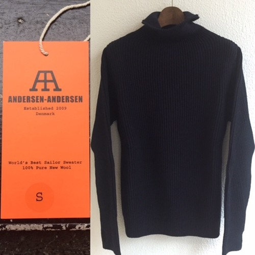 "ANDERSEN-ANDERSEN ""SAILOR SWEATER(5 GAUGE TURTLE NECK)"""