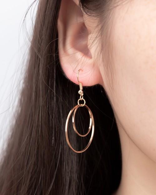 【注文商品】【アクセサリー】Luxury Simple Ring Pendent Piercing【2 Color】