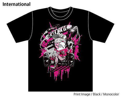 [Black / Monocolor] Special T-shirt of Collaboration Design by Kazutaka Kodaka (Tookyo Games) and jbstyle.