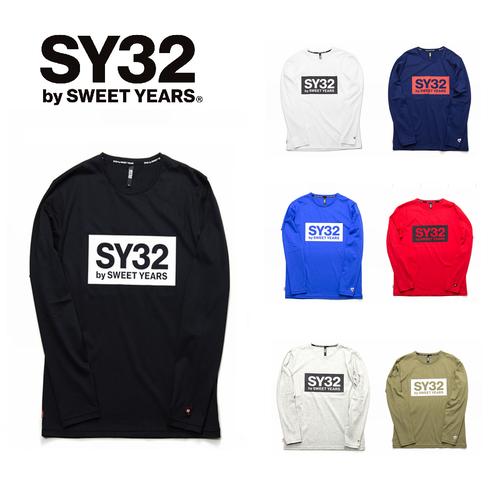 SY32 BOXロゴ長袖Tシャツ