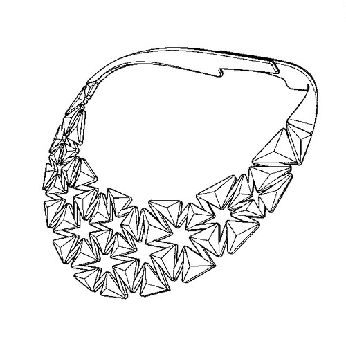 Auxetic pattern Neckless_White