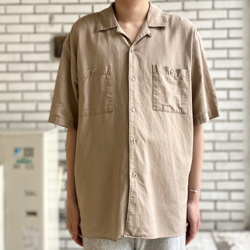USED LINEN COTTON S/S SHIRT
