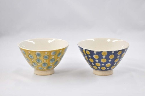 色彩点紋 茶碗各種