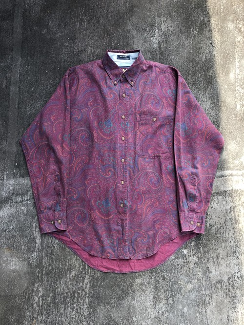 "USED / Polo Ralph Lauren ""CHAMPS"" paisley pattern shirt"