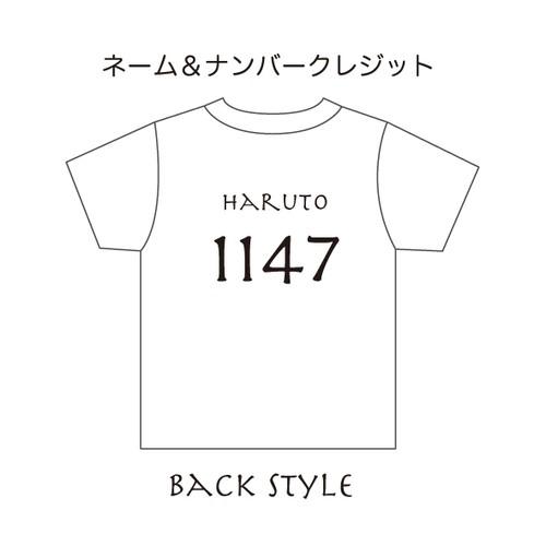 S∀PUP ベビーTシャツ *オプション* ネーム&背番号入れ