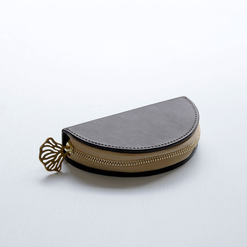 flutter coin case (dark brown)