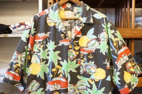 "80's BONHOMME cuban-print s/s Shirt ""Made in U.S.A."""