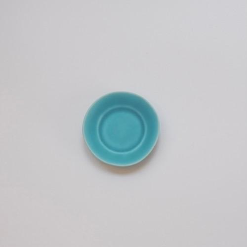 豆皿 リム#3 ターコイズ