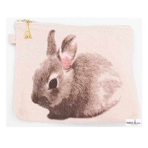Ballerina pink Rabbit Pouch