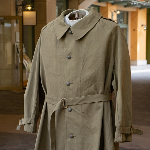 2-50's FRENCH ARMY MOTORCYCLE  COAT DEADSTOCK