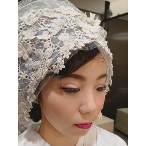 モチーフレースの綿帽子(洋髪用) 〜grace〜