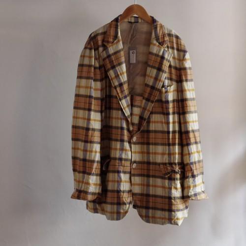 60's Men's Tailored Jacket / メンズ チェック テーラード ジャケット ビックシルエット