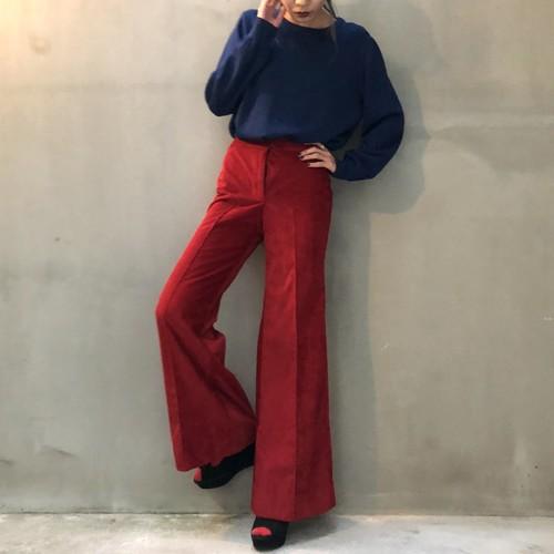 Dark red corduroy pants