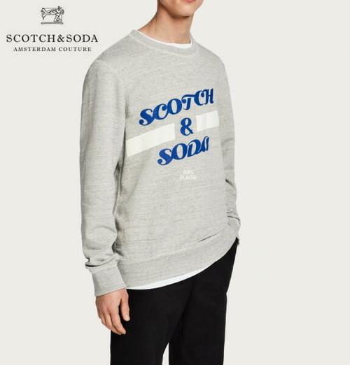 スコッチ&ソーダ SCOTCH&SODA スウェット トレーナー プルオーバー メンズ トップス 282-83817 Grey  【正規取扱店】