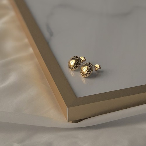 UCE-24G Eternal Circle Stud Earrings M