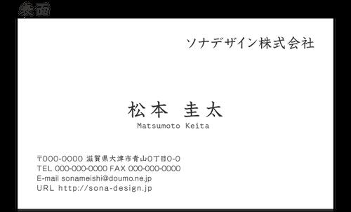 ビジネス両面名刺・シンプル 013 100枚