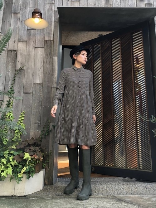【20AW】GANNI ガニー / Check Shirt Dress
