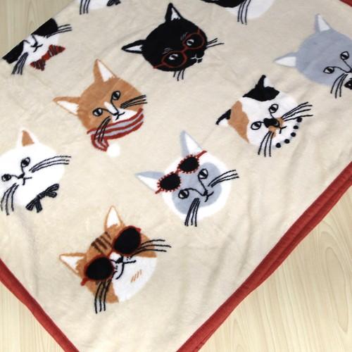 猫ブランケット(猫フェイス)