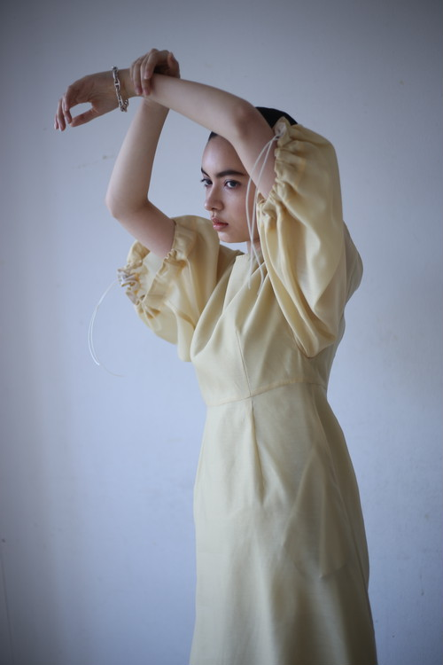 YOHEI OHNO / balloon sleeve sheer dress