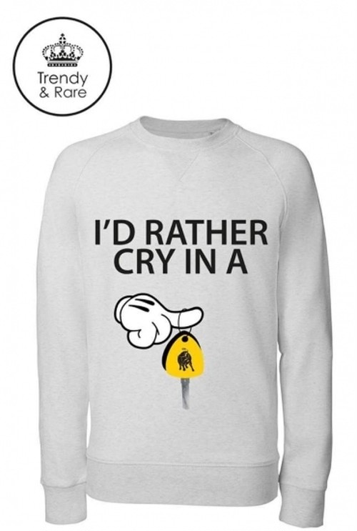 Trendy & Rare (トレンディ&レア) Sweatshirt I'D RATHER CRY IN A CREAM