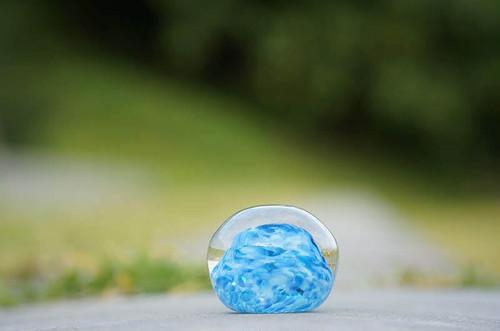 沖縄の思い出ペーパーウェイト(空と雲) 琉球ガラス工房 雫