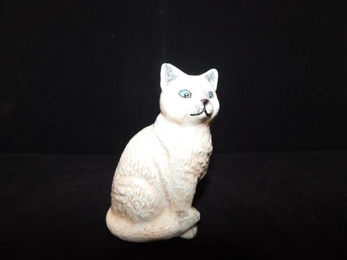 西洋猫(白色) white porcelain cat